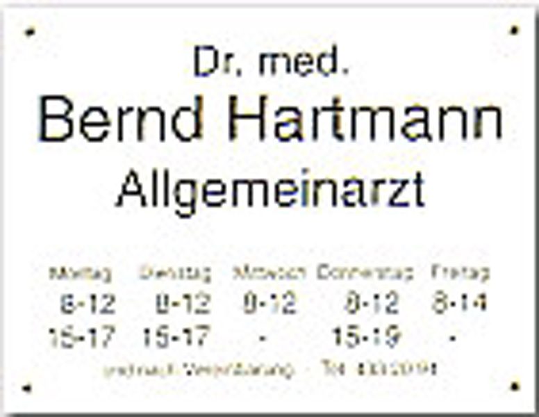 Placas para consultorios médicos