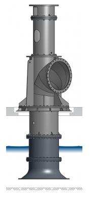 VPH Vertikale Propellerpumpe, hängend