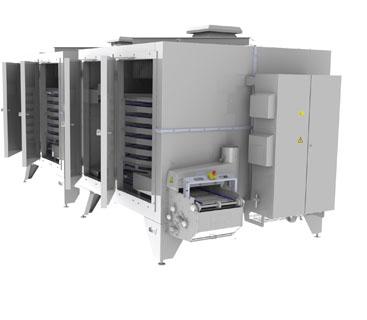 Охладительные установки с барабанными охладителями