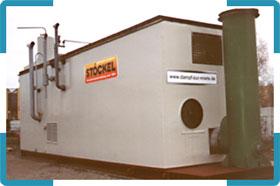 Dampfkessel - Containeranlage