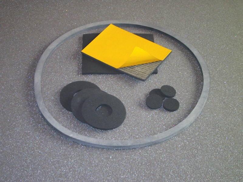 Części wytłaczane z gumy piankowej
