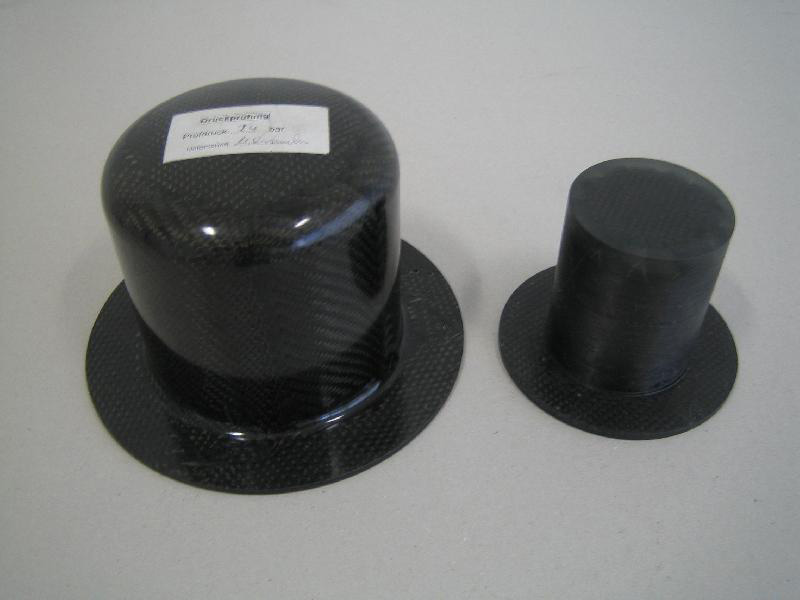 Carcasa interior de bomba magnética de fibra de carbono