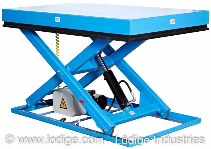 Mesas elevatórias em tesoura simples