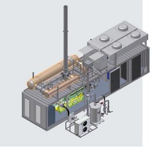 バイオガス・ブロック熱電力プラント