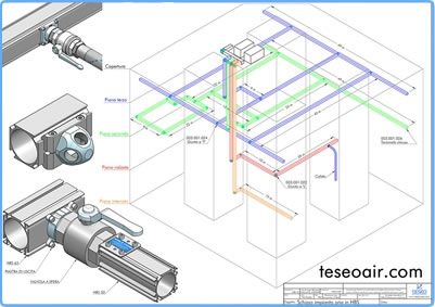 Compressed-air distribution / Teseo Deutschland GmbH