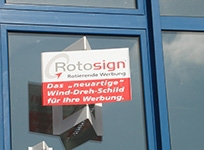 Wind Revolving Signs