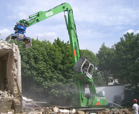 解体用掘削機
