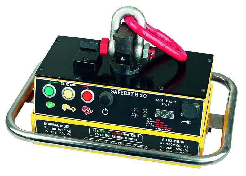 Elektropermanent Batterielasthebemagnet Safebat