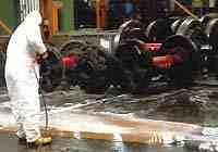 Déshuilage de surfaces de béton
