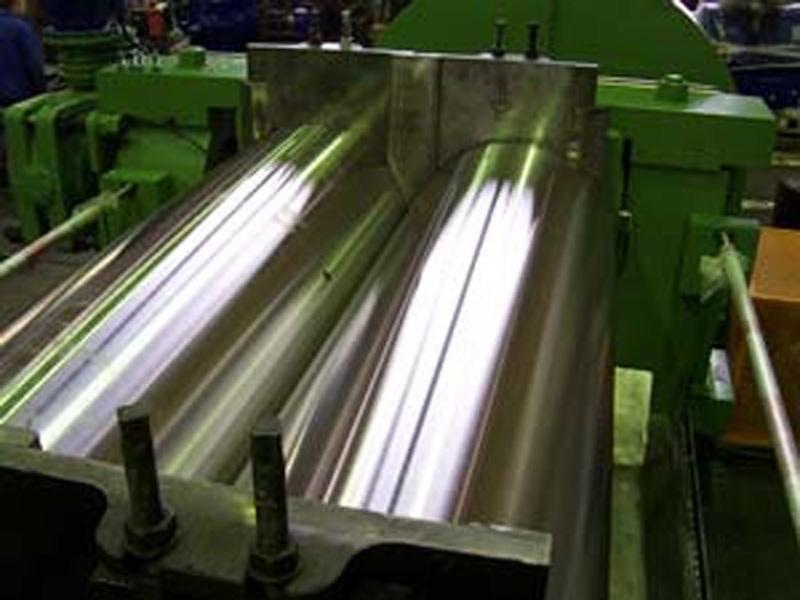 Produção de rolos de borracha