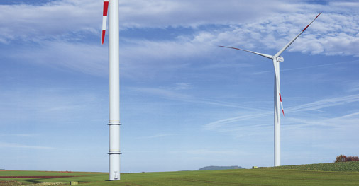 Возведение ветросиловой установки
