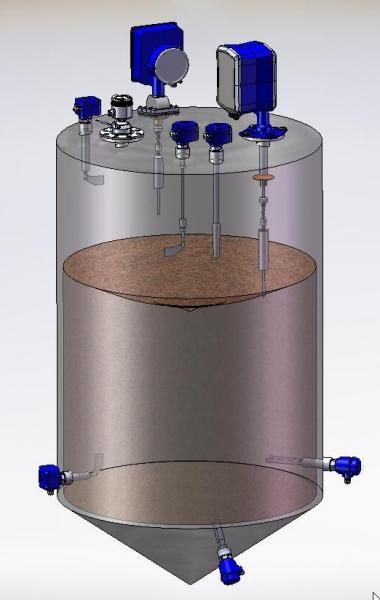 Sistemas de medição do nível de enchimento de silos