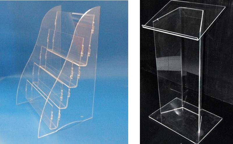 Artigos em vidro plexi