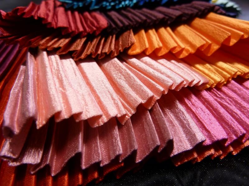 textiles plissés