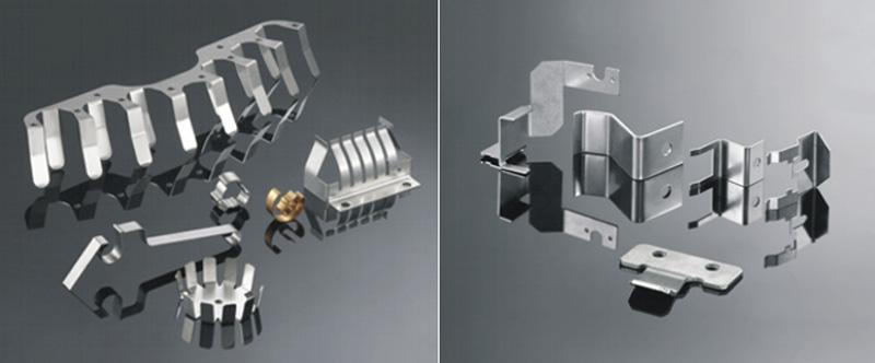 Pezzi in alluminio lavorati a stampo