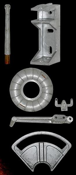 Peça vazada de alumínio