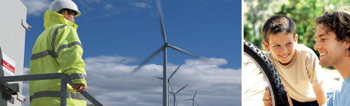 установки для получения энергии ветра