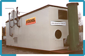 Central calefactora de contenedor