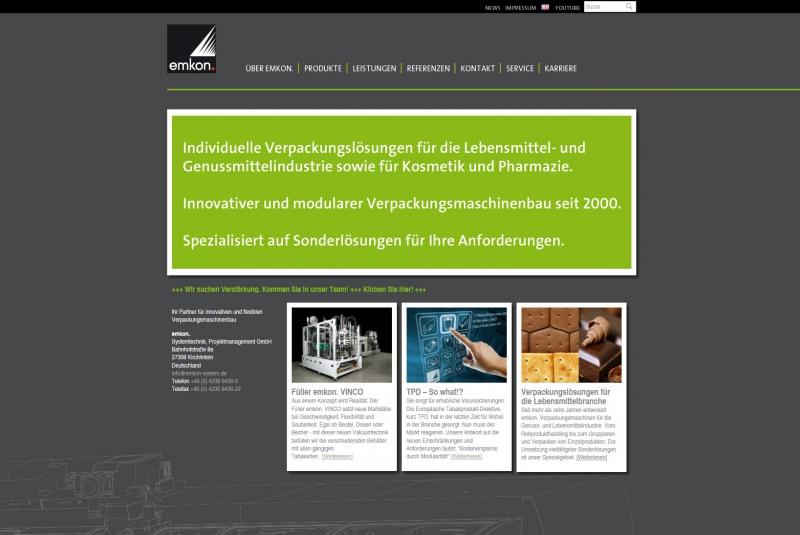 Standbeutelverpackungsmaschinen / emkon Systemtechnik Projektmanagement GmbH